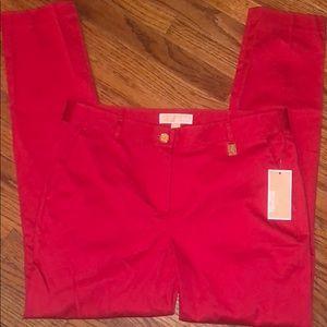 Michael Kors Macintosh Red Miranda slim pants 8